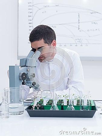 Scientist lab experiment
