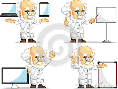 Scientist or Professor Customizable Mascot 14