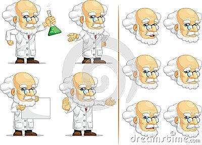 Scientist or Professor Customizable Mascot 10