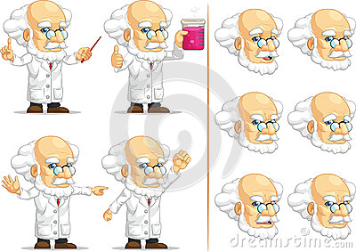 Scientist or Professor Customizable Mascot 11