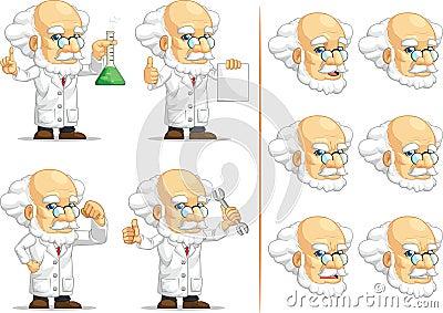 Scientist or Professor Customizable Mascot 2