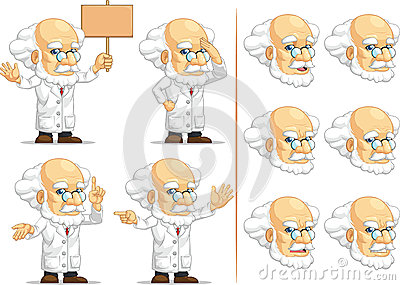 Scientist or Professor Customizable Mascot 8