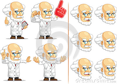 Scientist or Professor Customizable Mascot 4