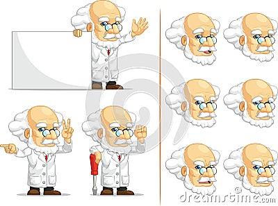 Scientist or Professor Customizable Mascot 5