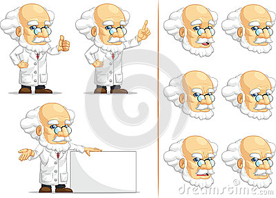 Scientist or Professor Customizable Mascot 6
