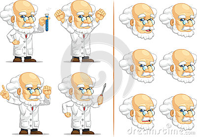 Scientist or Professor Customizable Mascot