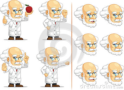 Scientist or Professor Customizable Mascot 9