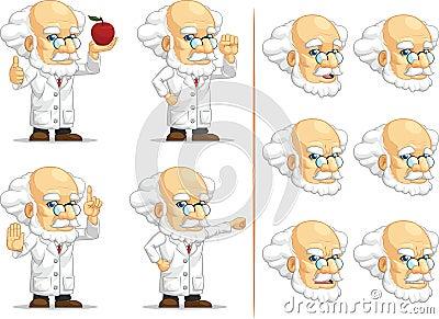 Scientist or Professor Customizable Mascot 9