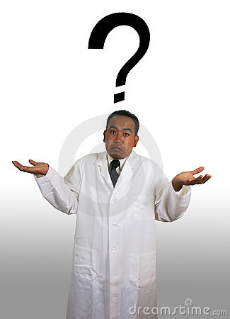Scientist Shrug with Question Mark
