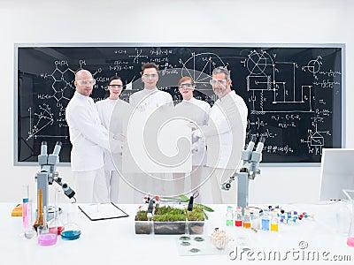 Scientist team in laboratory