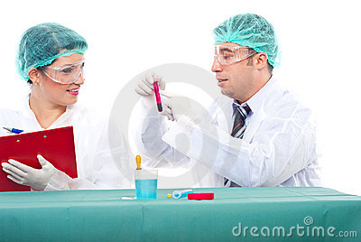 Scientist teamwok in laboratory