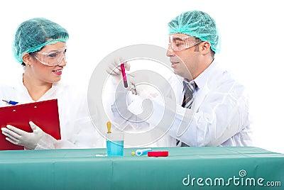 Scientist teamwok in laboratory