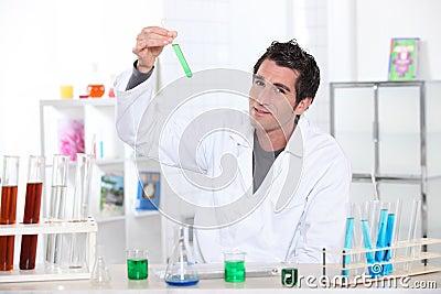 Scientist wearing lab coat