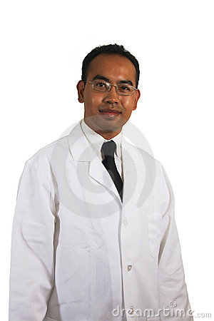 Scientist White  Background