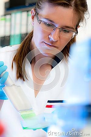 Scientist works in modern laboratory