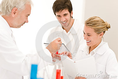 Scientists in laboratory - medical research