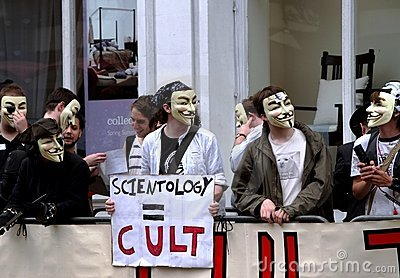 Scientology Protest Editorial Stock Photo