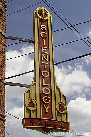 Scientology Sign Editorial Stock Image