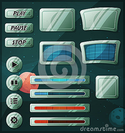 Free Scifi Space Icons For Ui Game Stock Images - 40612244