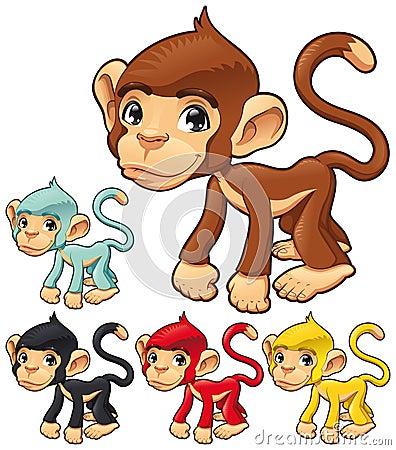 Scimmia divertente.