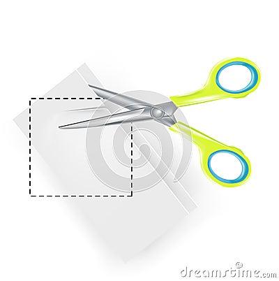 Scissors copy paste symbol
