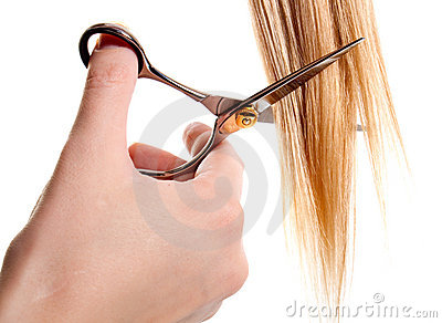 What Is Hair Cutting : Scissors Cutting Lock Of Hair Royalty Free Stock Images - Image ...