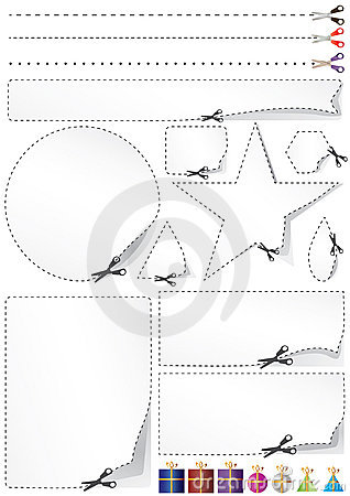 Free Scissors Divide Gift Space_eps Royalty Free Stock Image - 20677646