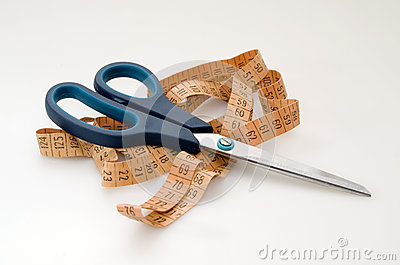 Scissors and measuring tape