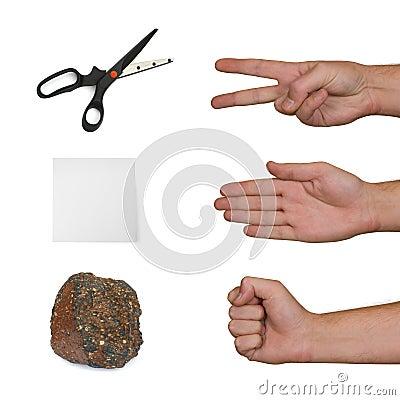 Free Scissors, Paper, Stone Stock Image - 3657131