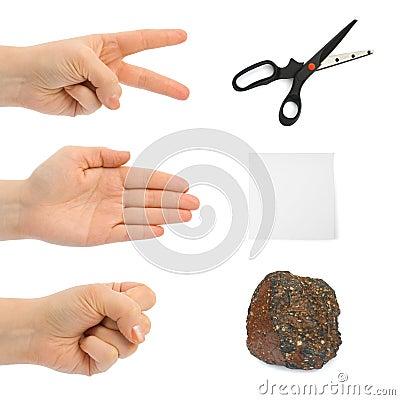 Free Scissors, Paper, Stone - Hands Stock Photos - 7784743