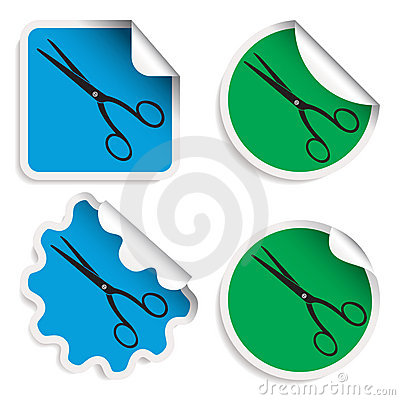 Scissors stickers