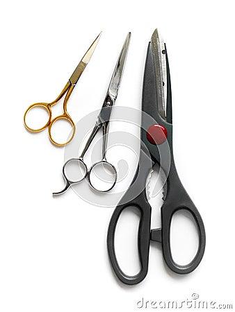 Scissors, three sizes