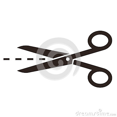 Free Scissors With Cut Lines Stock Image - 35520291