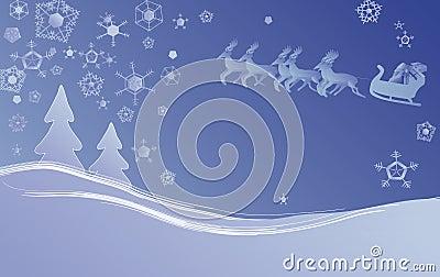 Scène de Noël de l hiver