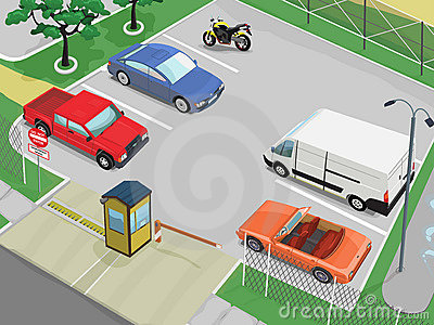 Scène de stationnement