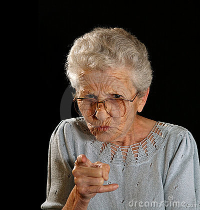 Free Scolding Grandmother Royalty Free Stock Image - 3899276