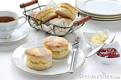 Scone , afternoon tea break Stock Photo