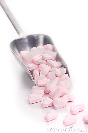 Free Scoop With Candy Hearts Stock Image - 13231291