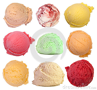 Free Scoops Of Ice Cream Royalty Free Stock Photography - 31881557