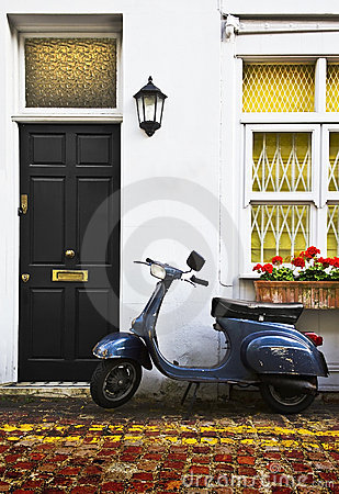 Scooter in London Mews