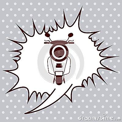 Pop Art Design Scooter Pop Art Design Vector Illustration Eps10 Graphic