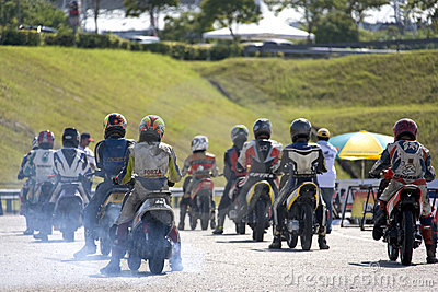 Scooter Prix Starting Grid Editorial Stock Image