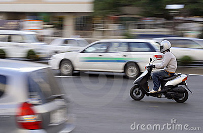Scooter ruchu