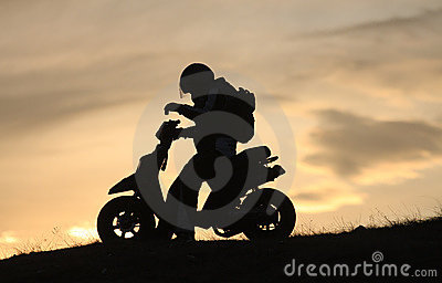 Scooter in the sunset