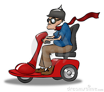 Free Scooting Granpda Royalty Free Stock Image - 11599996