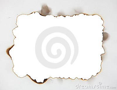 Scorched frame on paper