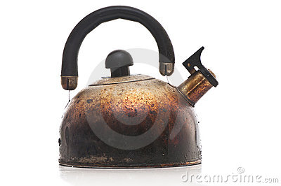 Scorched kettle