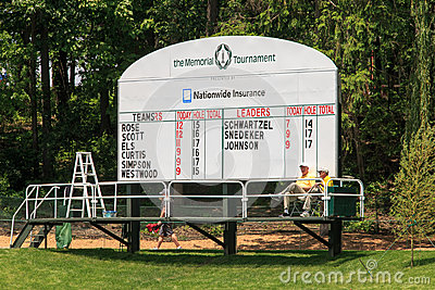 Score Board for ProAm at the Memorial Editorial Image