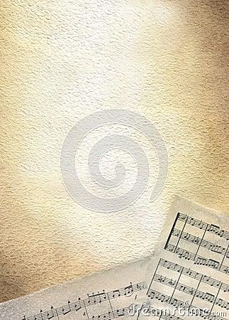 Score - brown watercolour