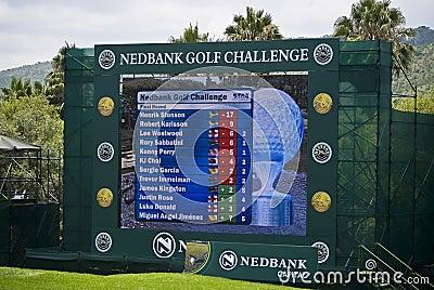 Scoreboard - Million Dollar Golf Editorial Image